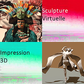Picto Sculpture Virtuelle 3D